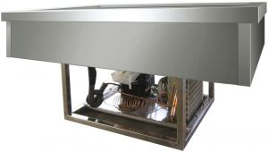 VRI411 Built-in stainless steel refrigerated container (+2º+8°C) 3x1/1 GN 144x68x54,5h