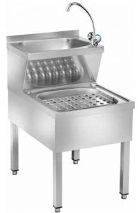 LMMC Stainless steel combined hands and rags wash basin