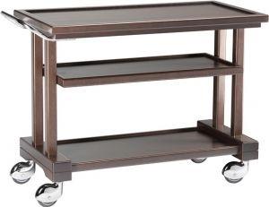 LP 800W Carrito de servicio de madera 3 pisos 81x55x82h