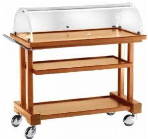 LPC 850 Carro de madera Nogal por las tortas 3  pisos 81x55x108h