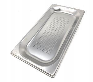GST1 / 3P065F Recipiente Gastronorm 1/3 h65 perforado en acero inoxidable AISI 304