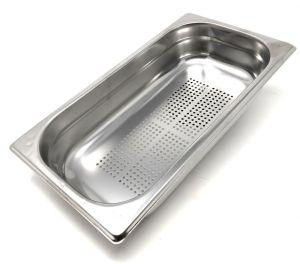 GST1/3P200F Contenitore Gastronorm 1/3 h200 forato in acciaio inox AISI 304