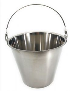 SE-G08 Stainless steel bucket graduated 8 liters