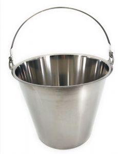 SE-G10 Stainless steel bucket graduated 10 liters