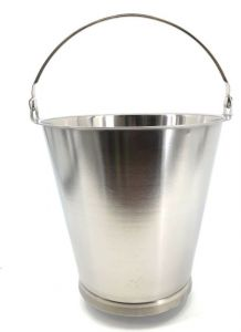 SE-G12B 12 liter graduated stainless steel bucket with base