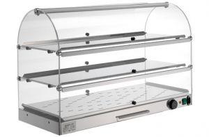 VET7035 - Vetrinetta riscaldata - 3 piani dim. 80X35X54
