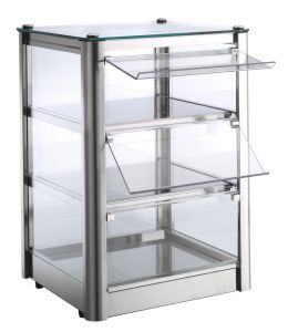 VKB33R Counter top display cabinet Hot 3 FLOORS made of stainless steel sheet
