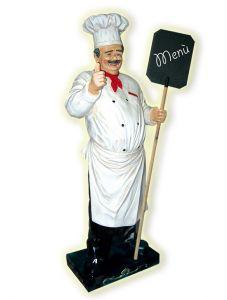 IGR006 Chef de cuisine en trois dimensions avec tableau 180 cm de hauteur