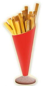 SR007 Patatine fritte - cono patate pubblicitario 3D per gastronomia altezza 180 cm