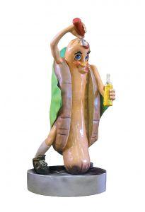 SR009 Hot dog - Hot dog publicitaire 3D pour la gastronomie hauteur 185 cm