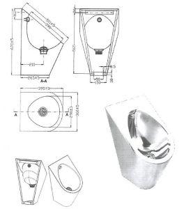 """LX3600 Urinoir professionnel """"GQ"""" LX3600 - brillant"""