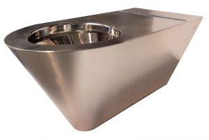 LX3740 WC handicapé professionnel suspendu en acier inoxydable Aisi 304 avec intérieur poli