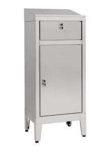 IN-699.01.430C Bureau d'armoire avec tiroir en acier AISI 430 - dim. 50x40x115 H