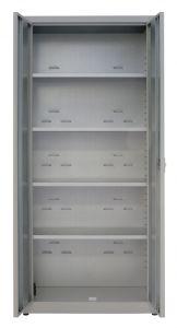 IN-Z.694.09.50 -  2 deck zinc plated storage cupboard - 100x50x200 H