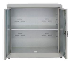 IN-Z.694.15.50 Armoire de rangement basse en plastique à 2 portes, zinc plastifié 100x50x80 H
