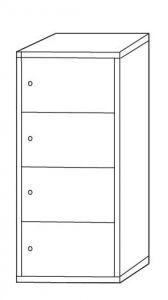 IN-Z.695.04 Armoire de rangement polyvalente 4 places - Dim. 45x40x180 H