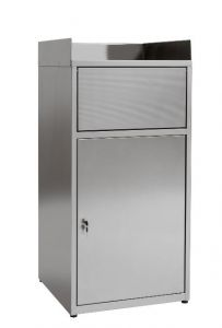 IN-Z.701.01 Cabinet waste bin empties trays in plasticized zinc sheet - Dim. 60x60x120 H