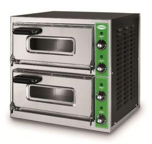 B7 + 7M - Pizza oven INOX 2 PIZZA 50 cm Single-phase