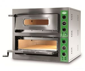 B8 + 8T - Horno de pizza INOX 8 PIZZA 36 cm trifásico B8 + 8