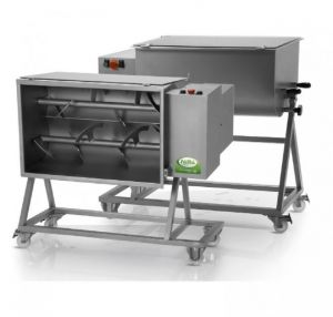 FIC 120B - 120 KG two-toned dough mixer complete with trolley