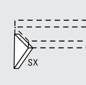 EU63990-14 mensola fissa inferiore sx da cm 38 ECO