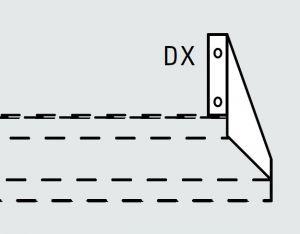EU63991-03 mensola fissa superiore dx da cm 28 ECO