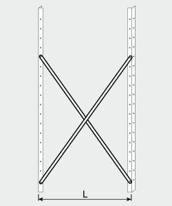 EU77009-13 crocera per scaffale ECO da cm 130