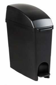 T104281 Contenitore di raccolta sacchetti igienici plastica nero 18 litri