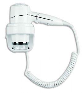 T704005 Secador de pelo con asa abatible y soporte de pared