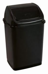 T909535 Pattumiera con coperchio basculante polipropilene nero 35 litri (confezione da 12 pezzi)