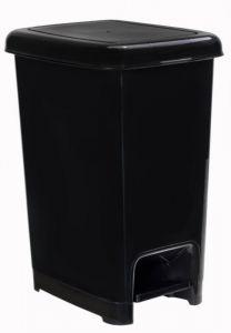 T909810 Black polypropylene pedal bin 10 liters (Pack of 18 pieces)