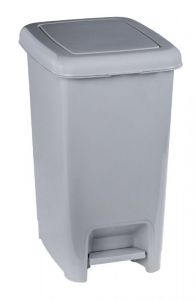 T909925 Gray polypropylene pedal bin 25 liters (pack of 8 pieces)