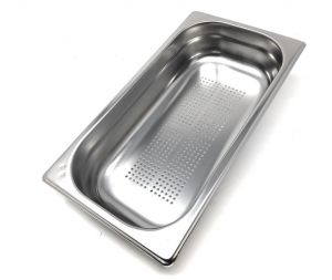 GST1/3P040F Gastronorm container 1/3 h40 drilled in AISI 304 stainless steel