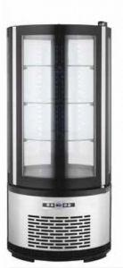 ARC100B Vitrina refrigerada redonda ventilada con iluminación led - capacidad 100 lt.