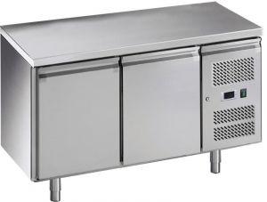 G-GN2100TN-FC Table à manger réfrigérée en acier inoxydable AISI201-