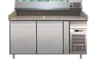 G-PZ2600TN - Encimera de pizza refrigerada con dos puertas en acero inoxidable