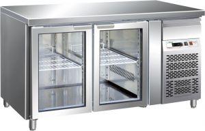 G-GN2100TNG - Tabla refrigerada ventilada GN1 / 1 Temp + 2 / + 8 ° C Puerta de vidrio