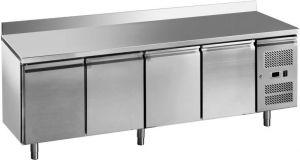 G-GN4200BT-FC Table de congélateur ventilée à 4 portes en acier inoxydable AISI201