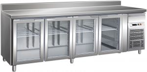 G-GN4200TNG - Mesa refrigerada con ventilación de acero inoxidable 4 puertas Temp. + 2 / + 8 ° C