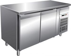 G-PA2100TN Mesa refrigerada ventilada - Dos mostradores para pastelerías -