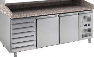 G-PZ2610TN-FC Table réfrigérée ventilée et comptoir à pizza en acier AISI201