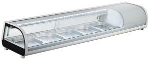 G-RI12033V- Vetrina portaingredienti refrigerata statica in acciaio inox per bacinelle gastronorm