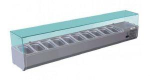 G-RI20033V - Vetrina refrigerata statica per pizzeria  capacità 10 bacinelle