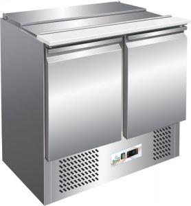 G-S900 - Saladette con refrigeración estática para ensaladas en acero inoxidable AISI304