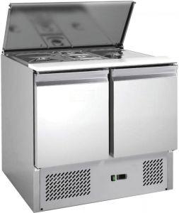 G-S900-FCSaladette en acier inoxydable AISI201 avec réfrigération statique, 2 ports
