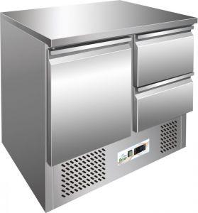 G-S901-2D Saladette refrigerada, temp. + 2 / + 8 ° C, marco de acero inoxidable AISI 304