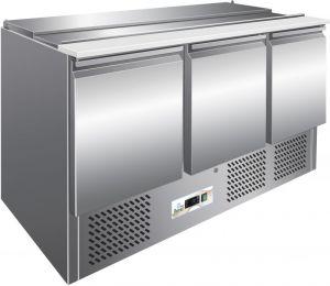 G-S903 Contador refrigerado de ensaladas estáticas, estructura de acero inoxidable AISI304