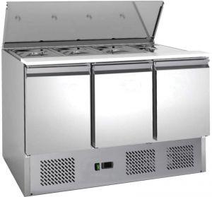 G-S903-FC Etagère à salade réfrigérée statique en acier inoxydable AISI201