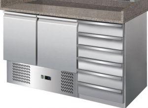 G-S903PZCAS-FC Table réfrigérée avec fonction de comptoir de pizza en acier inoxydable AISI201