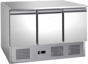 G-S903TOP-FC Saladette refrigerata statica, AISI201, 3 porte